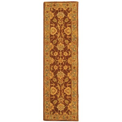 Cranmore Gold & Brown Area Rug Rug Size: Runner 23 x 8