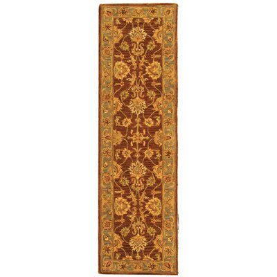 Cranmore Gold & Brown Area Rug Rug Size: Runner 23 x 14