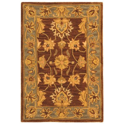 Cranmore Gold & Brown Area Rug Rug Size: Rectangle 2 x 3