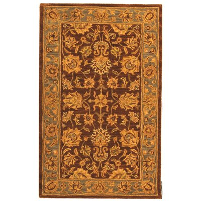 Cranmore Gold & Brown Area Rug Rug Size: Rectangle 3 x 5