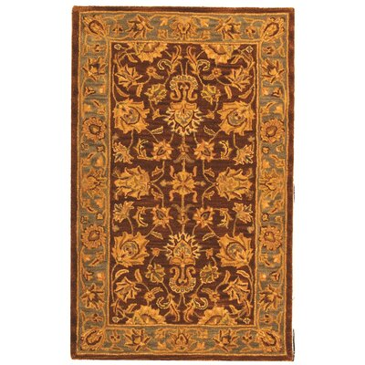 Cranmore Gold & Brown Area Rug Rug Size: 3 x 5