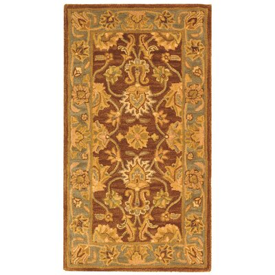 Cranmore Gold & Brown Area Rug Rug Size: 23 x 4