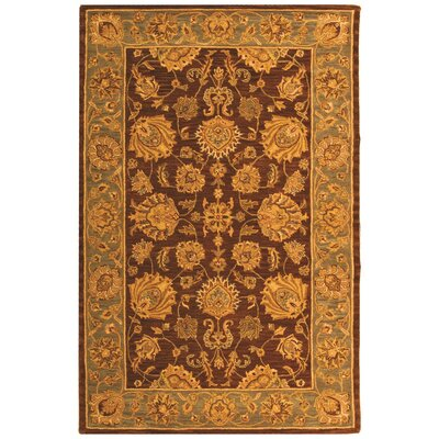 Cranmore Gold & Brown Area Rug Rug Size: 5 x 8