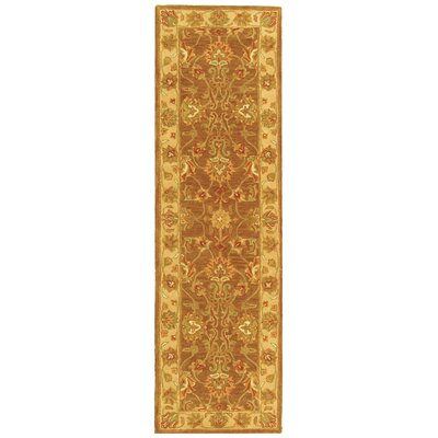 Cranmore Brown/Ivory Area Rug COLOR: Brown / Ivory, Rug Size: Oval 76 x 96