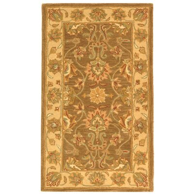 Cranmore Brown/Ivory Area Rug Rug Size: 2'3