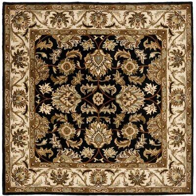 Cranmore Black & Beige Area Rug Rug Size: Square 4