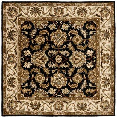 Cranmore Black & Beige Area Rug Rug Size: Square 6