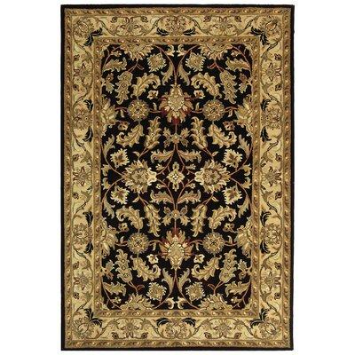Cranmore Black & Beige Area Rug Rug Size: 96 x 136