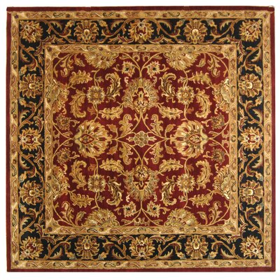 Cranmore Red Area Rug Rug Size: Square 10