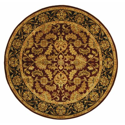 Cranmore Red Area Rug Rug Size: Round 6