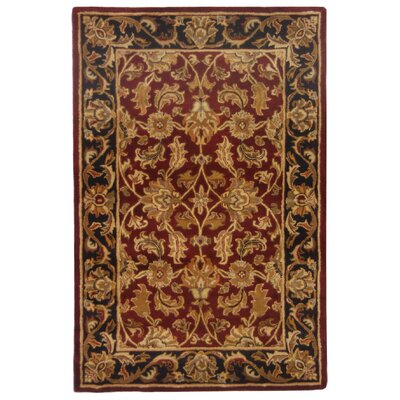 Cranmore Red Area Rug Rug Size: 96 x 136