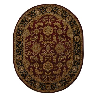 Cranmore Red Area Rug Rug Size: Oval 46 x 66