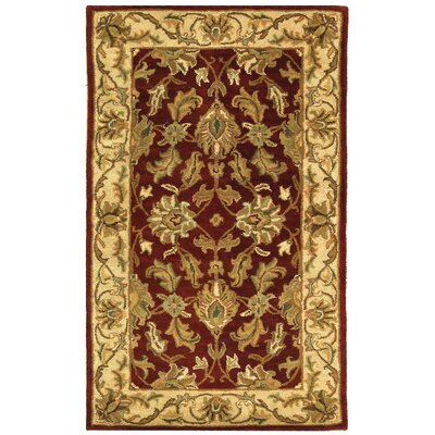 Cranmore Red/Ivory Floral Area Rug Rug Size: Rectangle 3 x 5