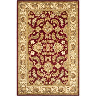 Cranmore Red/Ivory Floral Area Rug Rug Size: 6 x 9