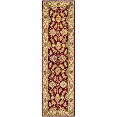 Cranmore Red/Ivory Floral Area Rug Rug Size: Runner 23 x 14
