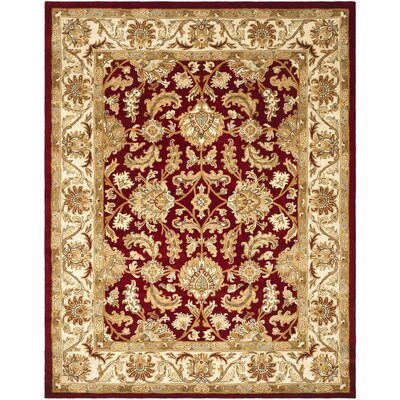 Cranmore Red/Ivory Floral Area Rug Rug Size: 96 x 136