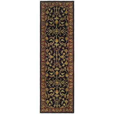 Cranmore Black/Red Area Rug Rug Size: Runner 23 x 16