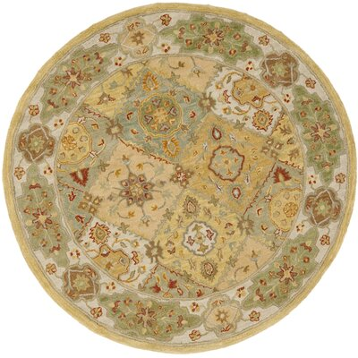 Cranmore Ivory Area Rug Rug Size: Round 6