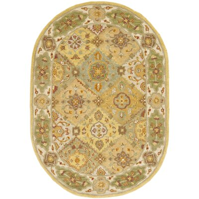Cranmore Ivory Area Rug Rug Size: Oval 46 x 66