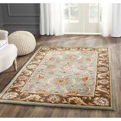 Cranmore Hand-Tufted Blue/Brown Area Rug Rug Size: Rectangle 11 x 17