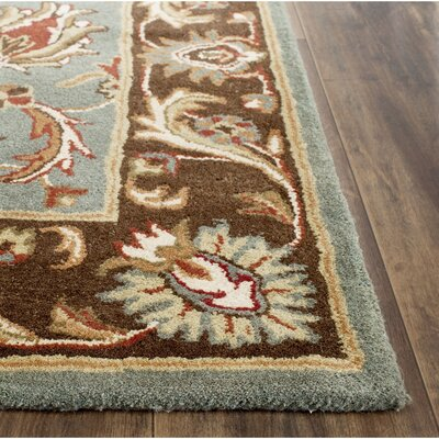 Cranmore Hand-Tufted Blue/Brown Area Rug Rug Size: Rectangle 9 x 12