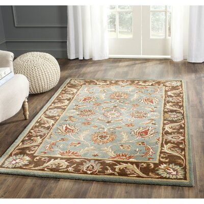 Cranmore Hand-Tufted Blue/Brown Area Rug Rug Size: 11 x 17