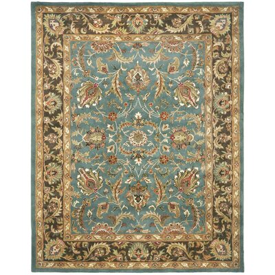 Cranmore Hand-Tufted Blue/Brown Area Rug Rug Size: 9'6