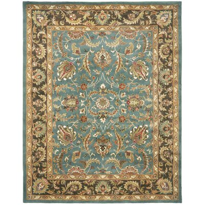 Cranmore Hand-Tufted Blue/Brown Area Rug Rug Size: Rectangle 76 x 96