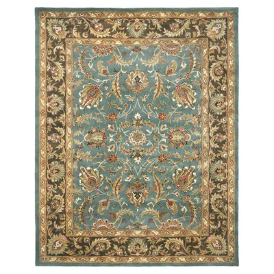 Cranmore Hand-Tufted Blue/Brown Area Rug Rug Size: 6 x 9