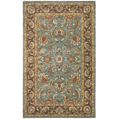 Cranmore Hand-Tufted Blue/Brown Area Rug Rug Size: 5 x 8