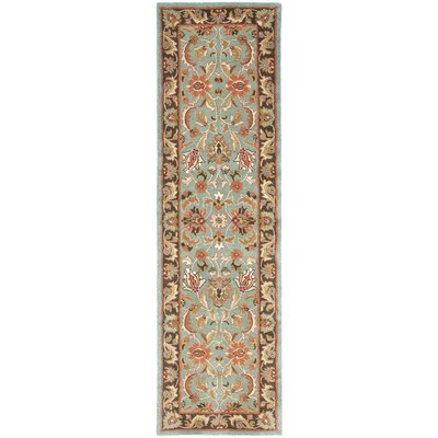 Cranmore Hand-Tufted Blue/Brown Area Rug Rug Size: Runner 23 x 16