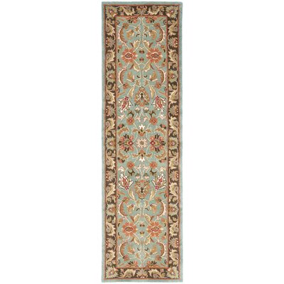 Cranmore Hand-Tufted Blue/Brown Area Rug Rug Size: Runner 23 x 12