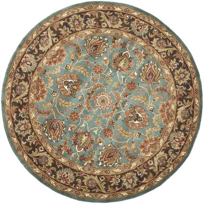Cranmore Hand-Tufted Blue/Brown Area Rug Rug Size: Round 8