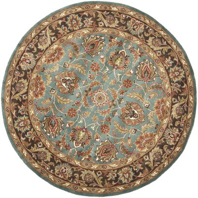 Cranmore Hand-Tufted Blue/Brown Area Rug Rug Size: Round 6
