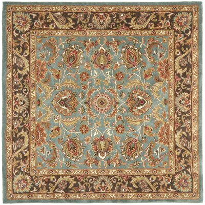 Cranmore Hand-Tufted Blue/Brown Area Rug Rug Size: Square 6