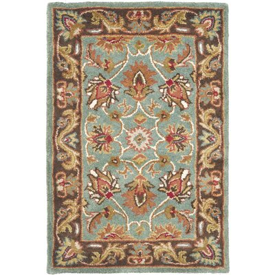 Cranmore Hand-Tufted Blue/Brown Area Rug Rug Size: 2 x 3