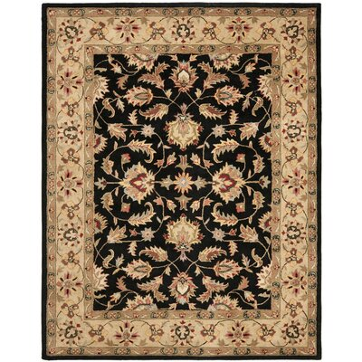 Cranmore Black Area Rug Rug Size: Rectangle 9 x 12