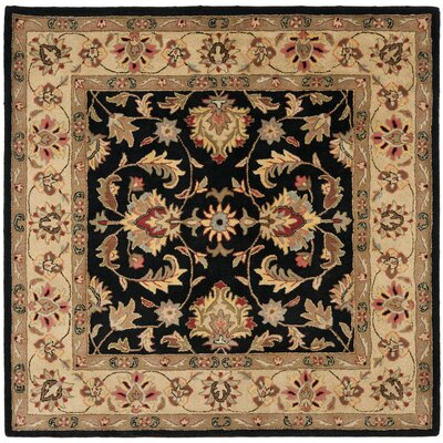 Cranmore Black/Gold Area Rug Rug Size: Square 8