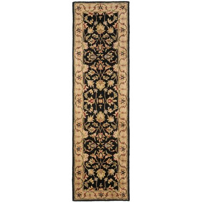 Cranmore Black/Gold Area Rug Rug Size: Runner 23 x 16