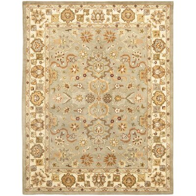 Cranmore Light Green & Beige Area Rug Rug Size: 76 x 96