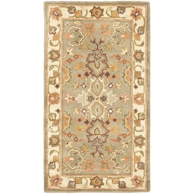 Cranmore Light Green & Beige Area Rug Rug Size: Rectangle 12 x 18