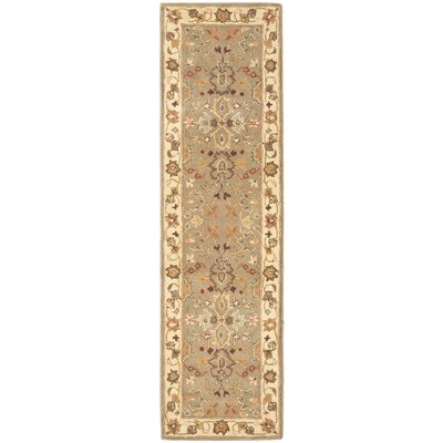 Cranmore Light Green & Beige Area Rug Rug Size: Runner 23 x 18