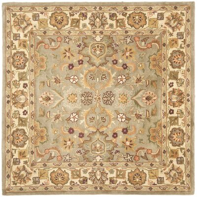 Cranmore Light Green & Beige Area Rug Rug Size: Square 6