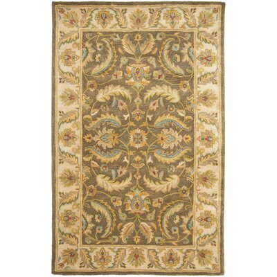Cranmore Green / Beige Oriental Rug Rug Size: Rectangle 76 x 96