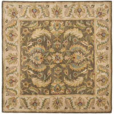 Cranmore Green / Beige Oriental Rug Rug Size: Square 6