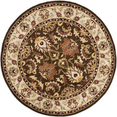 Cranmore Brown/Beige Area Rug Rug Size: Round 6