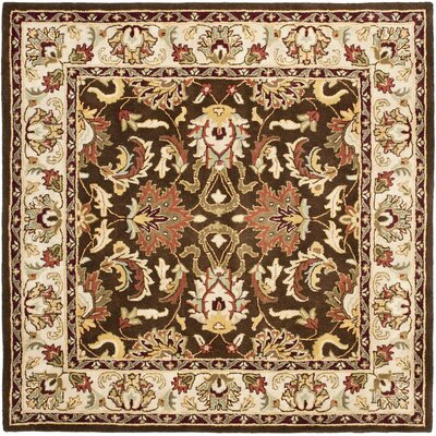 Cranmore Brown/Beige Area Rug Rug Size: Square 6