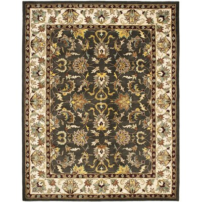 Cranmore Black/Ivory Area Rug Rug Size: 76 x 96