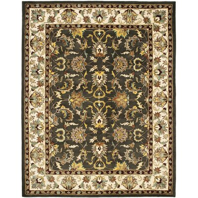 Cranmore Black/Ivory Area Rug Rug Size: 4 x 6