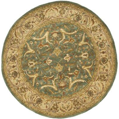 Cranmore Blue / Beige Oriental Rug Rug Size: Round 6